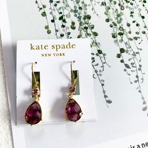 Kate Spade Purple Stone Drop Earrings
